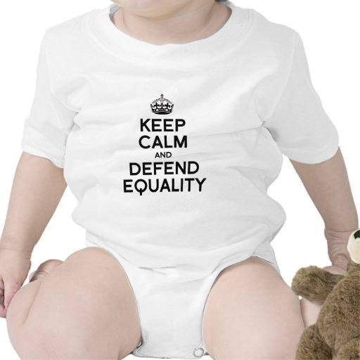 KEEP CALM AND DEFEND EQUALITY TEE SHIRT