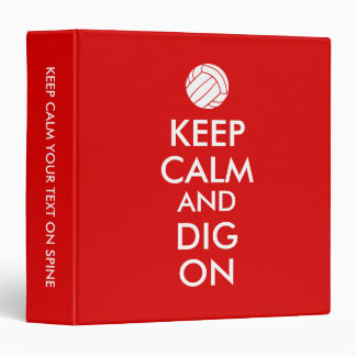 Keep Calm and Dig On Volleyball Sports Lovers Binder