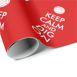 Keep Calm and Dig On Volleyball Sports Lovers Wrapping Paper