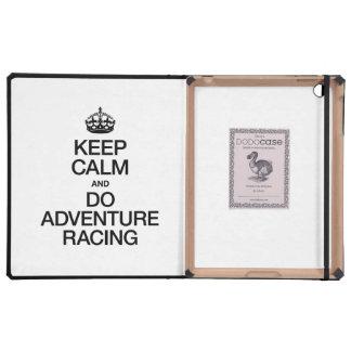 KEEP CALM AND DO ADVENTURE RACING iPad COVERS