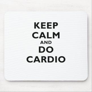 Keep Calm and Do Cardio Mouse Pad