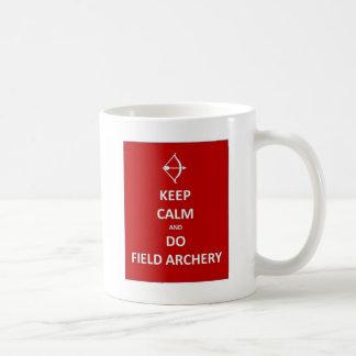 keep calm and do field archery.jpg coffee mug