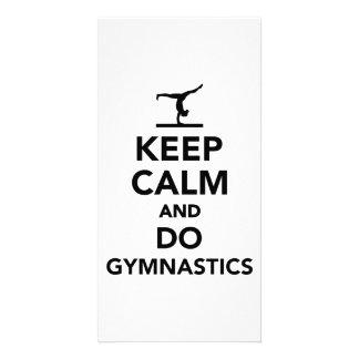 Keep calm and do gymnastics photo card template