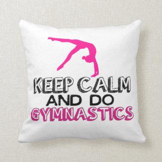 Keep Calm and Do Gymnastics Throw Pillow