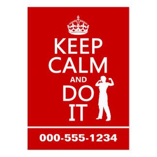 Keep Calm and Do It (any background color) Large Business Card