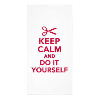 Keep calm and do it yourself photo card