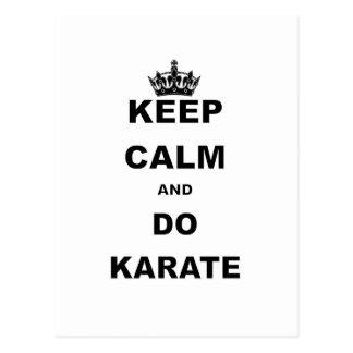 KEEP CALM AND DO KARATE POSTCARD