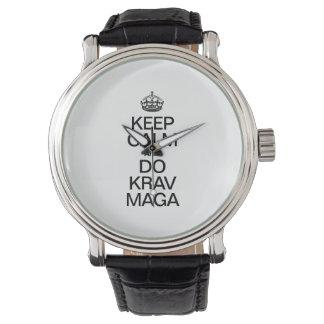KEEP CALM AND DO KRAV MAGA WATCH