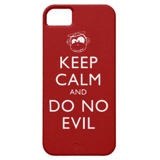 Keep Calm and Do No Evil Phone Case - Red iPhone 5 Covers