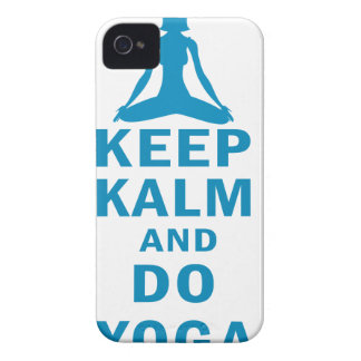 keep calm and do yoga iPhone 4 cases