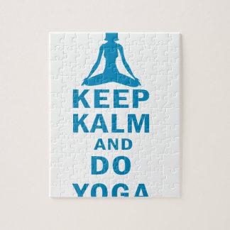 keep calm and do yoga jigsaw puzzle