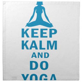 keep calm and do yoga napkin