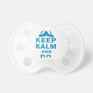 keep calm and do yoga pacifier
