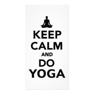 Keep calm and do Yoga Customized Photo Card