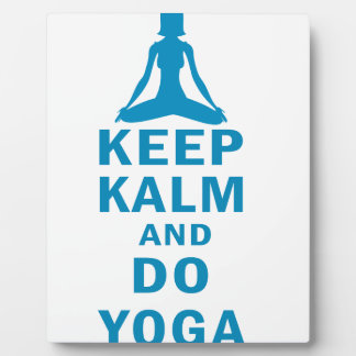 keep calm and do yoga plaque