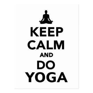 Keep calm and do Yoga Postcard
