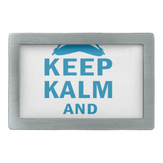keep calm and do yoga rectangular belt buckle