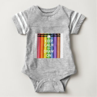 Keep Calm and Draw On Colours Baby Bodysuit