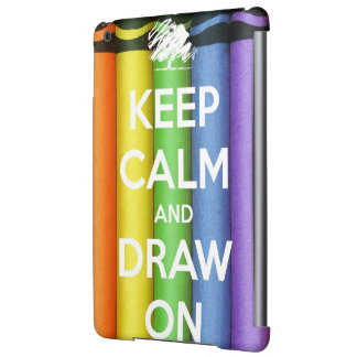 Keep Calm and Draw On Colours Cover For iPad Air
