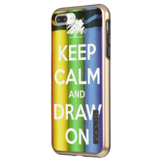 Keep Calm and Draw On Colours Incipio DualPro Shine iPhone 8 Plus/7 Plus Case