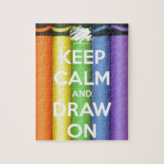 Keep Calm and Draw On Colours Jigsaw Puzzle