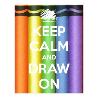 Keep Calm and Draw On Colours Letterhead