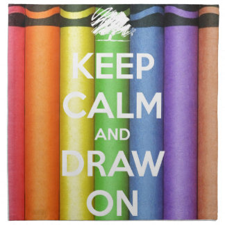 Keep Calm and Draw On Colours Napkin