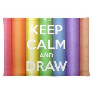 Keep Calm and Draw On Colours Placemat