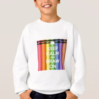 Keep Calm and Draw On Colours Sweatshirt