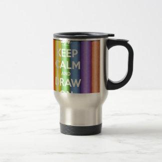 Keep Calm and Draw On Colours Travel Mug