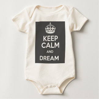 Keep Calm and Dream Big Quote Baby Bodysuit