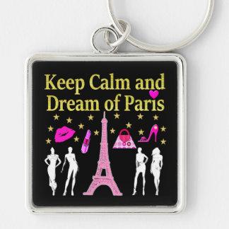 KEEP CALM AND DREAM OF PARIS KEYCHAIN