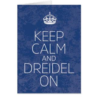 """""""Keep Calm and Dreidel On"""" Hanukkah Card"""