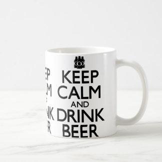 Keep Calm and Drink Beer (Carry On) Coffee Mug