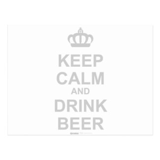 Keep Calm and Drink Beer - Funny Drunk Alcohol Post Cards