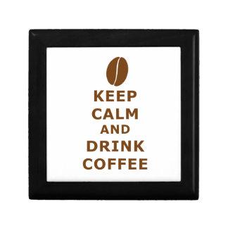 KEEP CALM AND DRINK COFFEE GIFT BOX