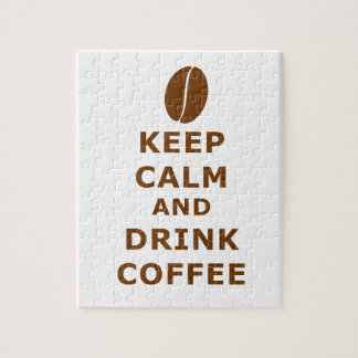 KEEP CALM AND DRINK COFFEE JIGSAW PUZZLE