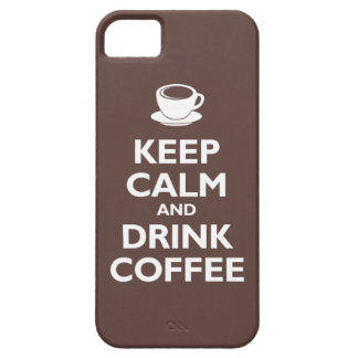 Keep Calm and Drink Coffee (mocha) Case For The iPhone 5
