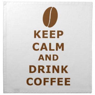 KEEP CALM AND DRINK COFFEE NAPKIN