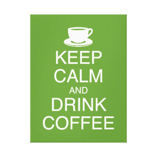 Keep Calm and Drink Coffee Wall Art Wrapped Canvas