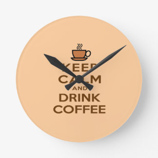 Keep Calm and Drink Coffee Wallclocks