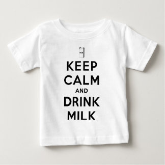 Keep Calm and Drink Milk Baby T-Shirt