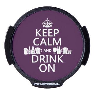 Keep Calm and Drink On (irish st patricks) LED Car Window Decal