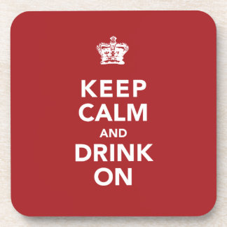 Keep Calm and Drink On Wine Lover Gift Coaster