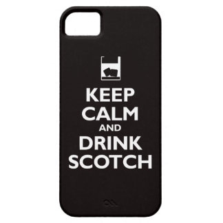 Keep Calm and Drink Scotch (black) iPhone 5 Case