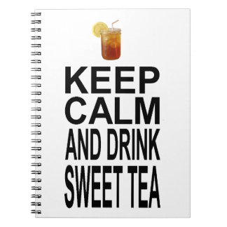 Keep Calm and Drink Sweet Tea Spiral Notebook