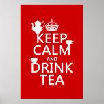 Keep Calm and Drink Tea - All Colours Print