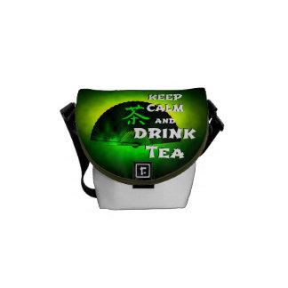 keep calm and drink tea - asia edition - green tea messenger bag