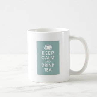 Keep Calm and drink Tea Classic White Coffee Mug