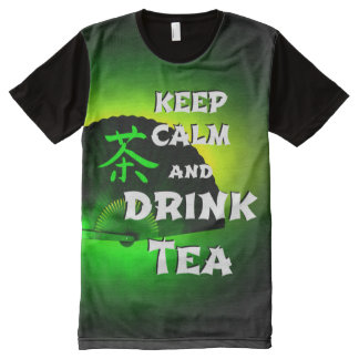 keep calm and drink tea - green asia edition All-Over-Print T-Shirt